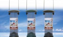 20cm  Wild Bird Zone Metal feeders