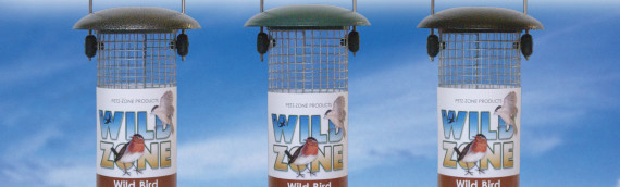 20cm  Wild Bird Zone Metal feeders