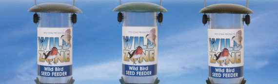 23cm  Wild Bird Zone Metal feeders