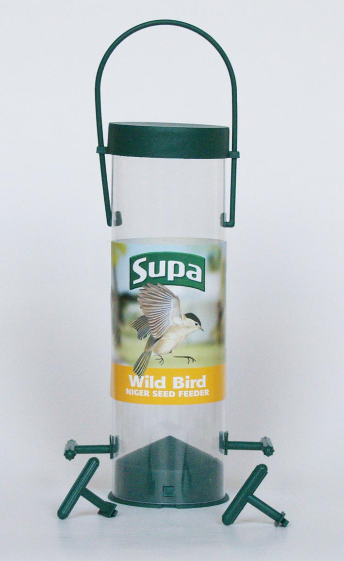 20cm 4 Port Niger Seed  Feeder