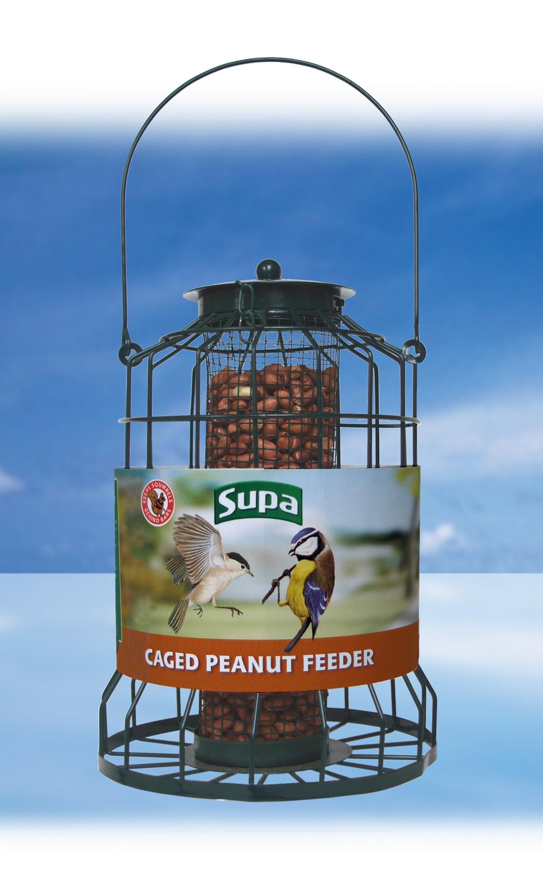 Caged  Peanut Feeder