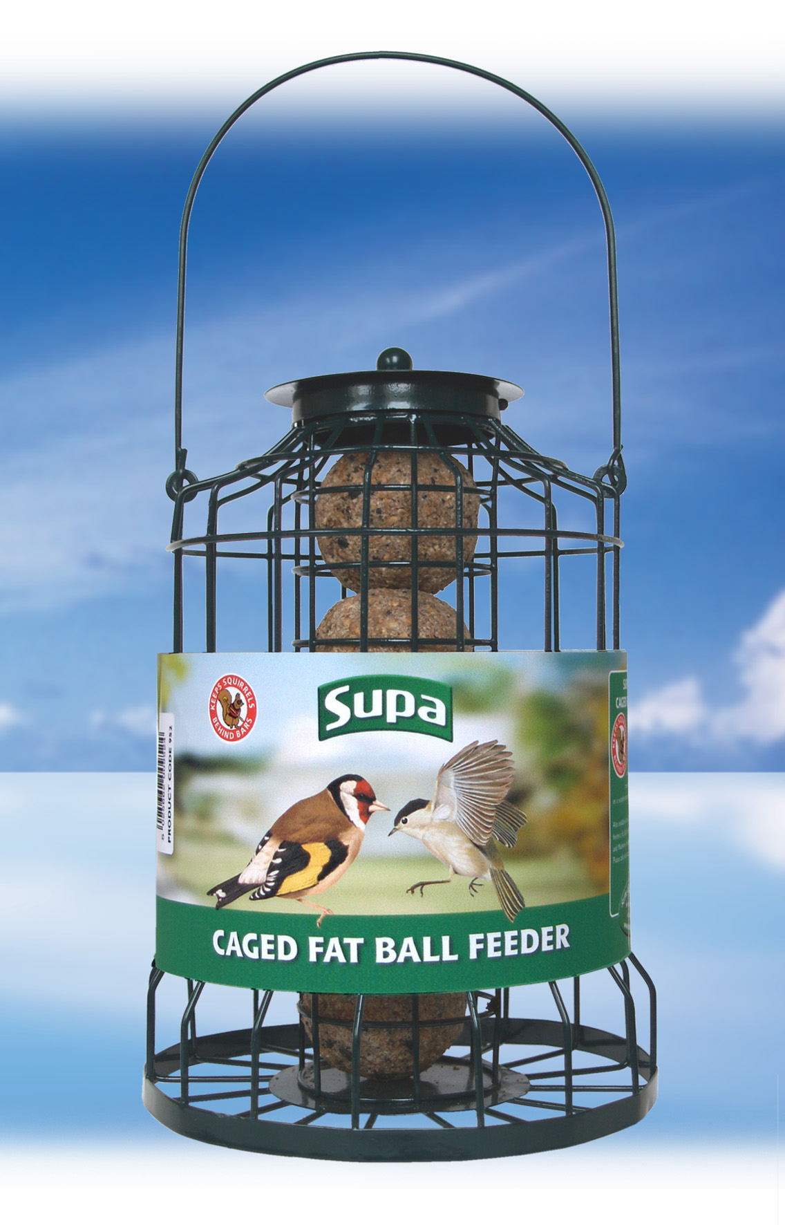 Caged  Fat Ball Feeder